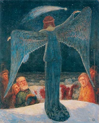 Heinrich Vogeler Verkündigung an die Hirten 1902