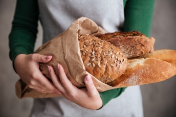 Offering bread to others