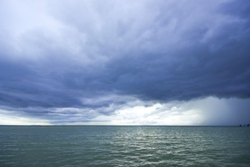 Samui sea with cloud before raining