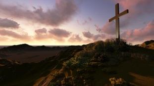 Cross on a hill SBI 300278687
