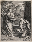 The Canaanite or Syrophoenician woman asks Christ to cure Wellcome V0034860